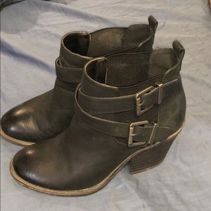 Sole society leather ankle boots